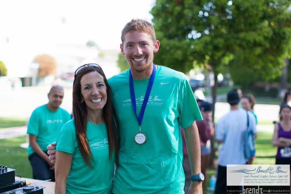 Leslie Cohen with 5k Winner Harley Richards